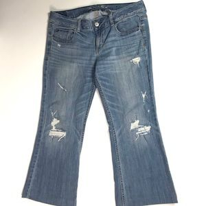American Eagle AE Hipster Distressed Jeans  Sz 10